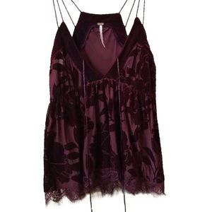 FREE PEOPLE velvet burnout top NWOT